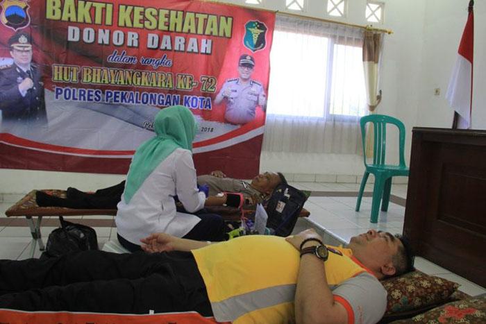 Donor Darah HUT Bhayangkara
