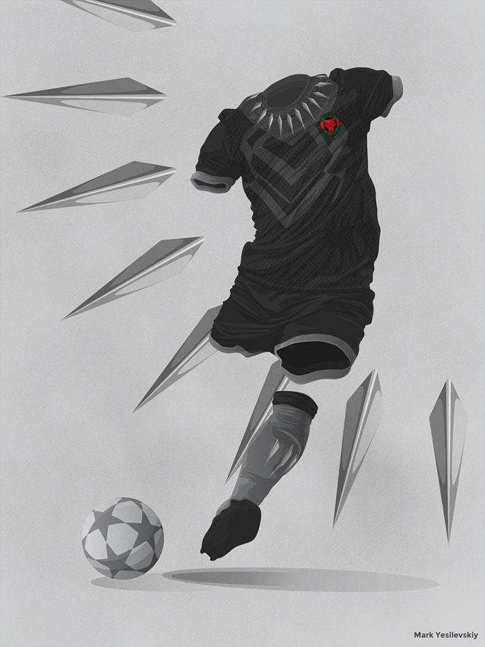 Jika Wakanda Ikut Piala Dunia, Bagaimana Bentuk Jerseynya?