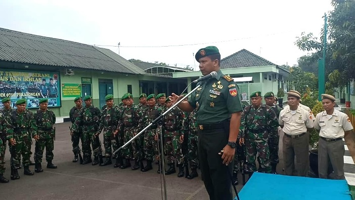 Dandim Pekalongan Ingatkan Prajuritnya tentang Netralitas TNI