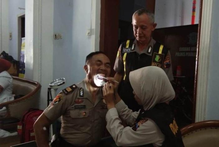Deteksi Dini Penyakit, Ratusan Personel Polres Jalani Rikkes